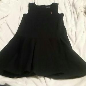 Navy sleeveless Polo dress